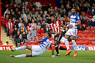 Brentford Midfielder Josh Clarke (20) scores a goal (score 1-0) during the EFL Sky Bet Championship match between Brentford and Reading at Griffin Park, London, England on 16 September 2017. Photo by Andy Walter.