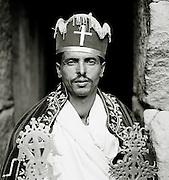 Portrait of an Ethiopian Orthodox Chrisitan Priest in Lalibela, Ethiopia