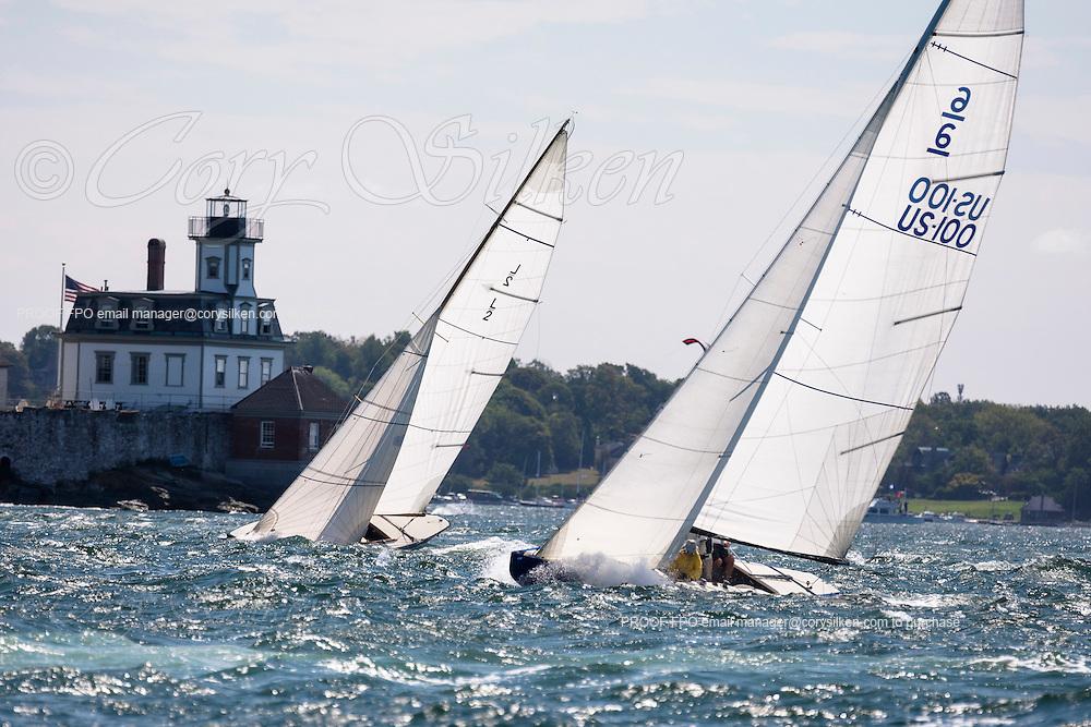 6 Metre Class sailing in the Newport Classic Yacht Regatta.