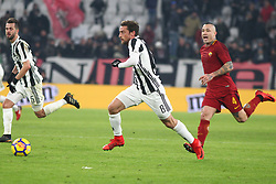 December 23, 2017 - Turin, Piedmont, Italy - Claudio Marchisio (Juventus FC) in action during the Series A football match between Juventus FC and AS Roma at Allianz Stadium on 23 December, 2017 in Turin, Italy. .Juventus won 1-0 over Roma. (Credit Image: © Massimiliano Ferraro/NurPhoto via ZUMA Press)