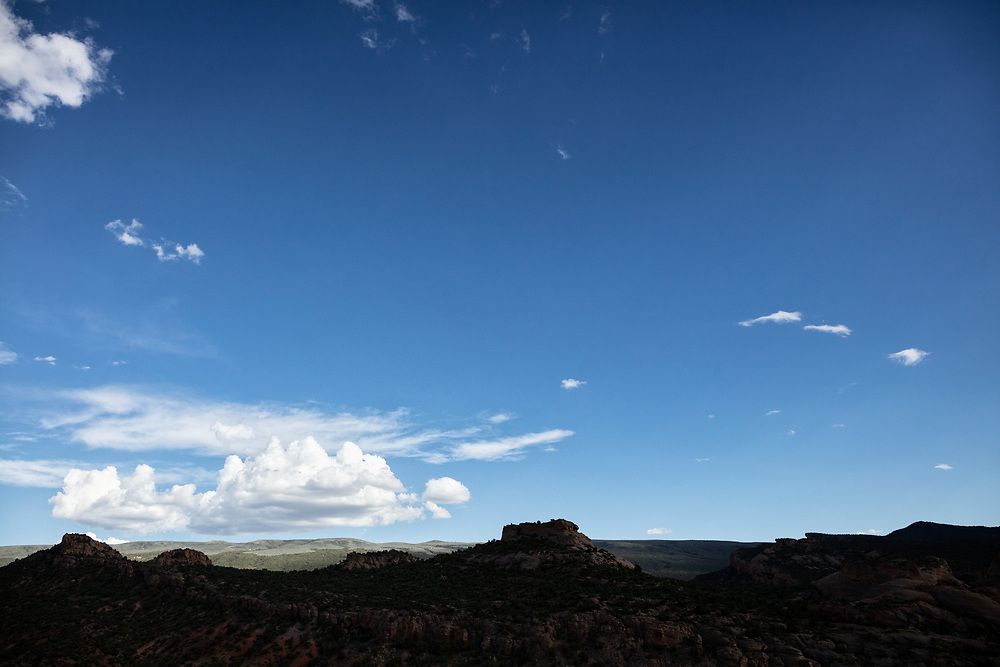 late afternoon contrasty landscape at Dinosaur Monutment in Utah