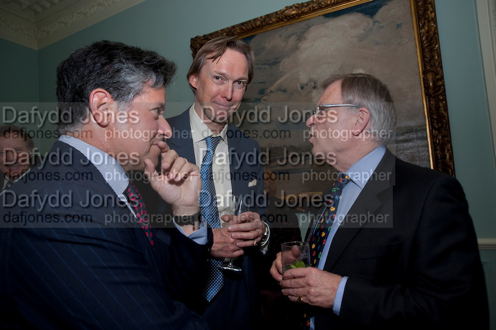 PETER SOROS; JAMES STOURTON; JEFFREY ARCHER, Nicholas Coleridge celebrates the publication of his novel; Deadly Sins. Dartmouth House, Charles St. London. 28 April 2009