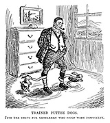 Trained Puttee Dogs. Just the thing for gentleman who stoop with difficulty.