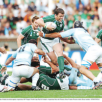 30 September 2007; Marcus Horan, Ireland, in action against Argentina. 2007 Rugby World Cup, Pool D, Ireland v Argentina, Parc des Princes, Paris, France. Picture credit; Brian Lawless / SPORTSFILE