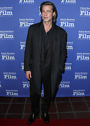 SANTA BARBARA, LOS ANGELES, CALIFORNIA, USA - JANUARY 22: Actor Brad Pitt arrives at the 35th Santa Barbara International Film Festival - Maltin Modern Master Award Honoring Brad Pitt held at The Arlington Theatre (Metropolitan Theatres) on January 22, 2020 in Santa Barbara, Los Angeles, California, United States. 22 Jan 2020 Pictured: Brad Pitt. Photo credit: Xavier Collin/Image Press Agency/MEGA TheMegaAgency.com +1 888 505 6342