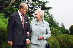 Queen Elizabeth II and the Duke of Edinburgh at Broadlands earlier this year.