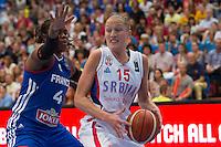 Isabelle Yacoubou / Danielle Page - 28.06.2015 - France / Serbie - Finale Championnat d'Europe feminin de Basket ball -Budapest<br /> Photo : Attila Volgyi / Icon Sport