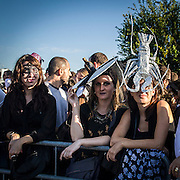 I fans di Lady Gaga al concerto di Milano al Forum di Assago, unica data italiana.<br />