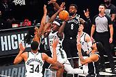 January 18, 2021 (NY): NBA Milwaukee Bucks v Brooklyn Nets Game
