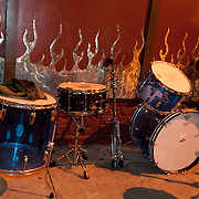 Drums outside the Casbah after the show.