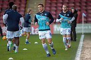 Wycombe Wanderers defender Adam El-Abd (6) warms up for the EFL Sky Bet League 1 match between Scunthorpe United and Wycombe Wanderers at Glanford Park, Scunthorpe, England on 29 December 2018.