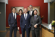 SHOT 1/8/19 12:25:10 PM - Bachus & Schanker LLC lawyers James Olsen, Maaren Johnson, J. Kyle Bachus, Darin Schanker and Andrew Quisenberry in their downtown Denver, Co. offices. The law firm specializes in car accidents, personal injury cases, consumer rights, class action suits and much more. (Photo by Marc Piscotty / © 2018)