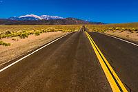 Highway 120 in Mono County, California USA.