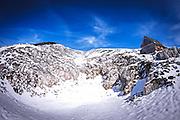 Alpine snowscape photographed in Austria