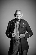 """Born in 1918, Cyrus H. Avey, Jr. lived and worked as a tinsmith in Texas. He married and had a family before he decided to enlist in the Army Air Corps from Fort Sam Houston in Texas on April 13, 1944. """"I served as a Military Policeman,"""" said Avey. """"After the war, I went back home to work at Kelly Field in Texas.""""<br /> <br /> Veterans Portrait Project<br /> Colorado Springs, CO"""