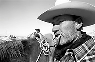 Dudley Hiibel, whose legal case about showing identification went to the U.S. Supreme Court, on his ranch on the outskirts of Winnemucca, Nevada, USA.