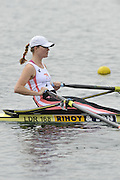 Eton, United Kingdom  GBR W1X. ERICA BODMAN, at the start of the women's single sculls  time trial,  at the 2012 GB Rowing Senior Trials, Dorney Lake. Nr Windsor, Berks.  Saturday  10/03/2012  [Mandatory Credit; Peter Spurrier/Intersport-images]