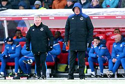 Everton manager Sam Allardyce (right) and assistant manager Sammy Lee stand on the touchline