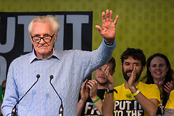 London, UK. 23rd March, 2019. Lord Heseltine addresses a million people taking part in a People's Vote rally in Parliament Square following a march from Park Lane.