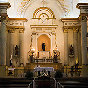 Inside the Oratorio San Felipe Neri in the heart of the historic Casco Viejo neighborhood of Panama City, Panama. It is one of the oldest churches in the city and was inaugurated in 1688.