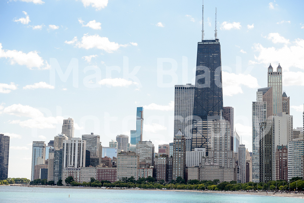 The Chicago Skyline as seen from North Avenue Beach in Chicago, Illinois on Friday, Sept. 4, 2020. Photo by Mark Black