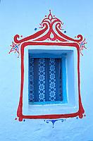 Maroc - Côte Atlantique - Ville de Asilah - Détail de fenêtre