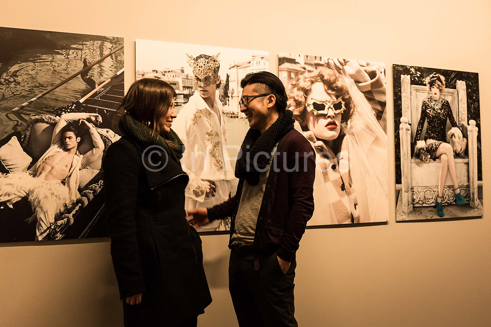 Masatsugu Okutani, 41, visits the Pinacoteque  to see a Karl Lagarfeld exhibition with friend Sarah in his leisure time, Paris