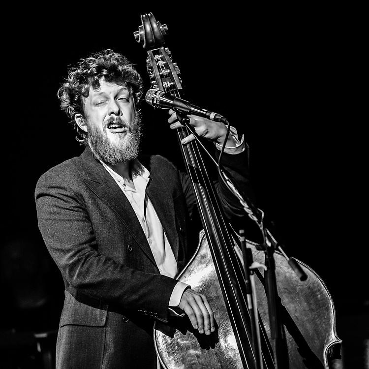 Ted Dwane of British indie-folk band Mumford & Sons at Iceland Airwaves