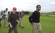 IRISH OPEN BALLYBUNION WEDNESDAY...Seve Ballesteros pictured taking part in the Murphys Irish Open Pro-Am at Ballybunion on Wednesday with on left, Anthony Bennett from.Picture by Don MacMonagle