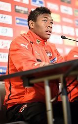21.03.2013, Ernst Happel Stadion, Wien, AUT, FIFA WM Qualifikation, Oesterreich vs Faeroeer Inseln, Pressekonferenz Oesterreich, im Bild David Alaba, (AUT) // during an Austrian press conference for the FIFA World Cup Qualifier Match between Austria (AUT) and Faroe Islands (FRO) at the Ernst Happel Stadion, Vienna, Austria on 2013/03/21. EXPA Pictures © 2013, PhotoCredit: EXPA/ Michael Gruber