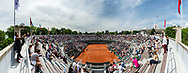 General view from field Number 1 during the Roland Garros French Tennis Open 2018, day 2, on May 28, 2018, at the Roland Garros Stadium in Paris, France - Photo Pierre Charlier / ProSportsImages / DPPI