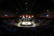 a General view of the arena before play. Ronnie O'Sullivan v Liang Wenbo, 1st round match at the Dafabet Masters Snooker 2017, day 1 at Alexandra Palace in London on Sunday 15th January 2017.<br /> pic by John Patrick Fletcher, Andrew Orchard sports photography.