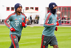 14.03.2019, Säbener Strasse, Muenchen, GER, 1. FBL, FC Bayern Muenchen vs 1. FSV Mainz 05, Training, im Bild v.l. Renato Sanches (FC Bayern), Kingsley Coman (FC Bayern) // during a trainings session before the German Bundesliga 26th round match between FC Bayern Muenchen and 1. FSV Mainz 05 at the Säbener Strasse in Muenchen, Germany on 2019/03/14. EXPA Pictures © 2019, PhotoCredit: EXPA/ Lukas Huter