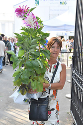 Visitors with last day sale bargains leave the RHS Chelsea Flower Show at the Royal Hospital Chelsea, London.