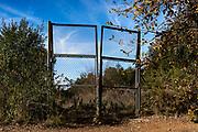 Gate on abandoned land, Catalonia