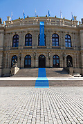 The Rudolfinum is a music auditorium and art gallery in Prague, Czech Republic. It is designed in the neo-renaissance style and is situated on Jan Palach Square on the bank of the river Vltava.