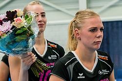 29-09-2018 NED: Supercup Sliedrecht Sport - Eurosped, Sliedrecht<br /> Sliedrecht takes the first price of the new season / Laura de Zwart #10 of Eurosped, Daphne Knijff #7 of Eurosped
