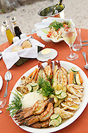 Seafood platter at Matemo lodge in the Quirimbas archipelago in Mozambique.