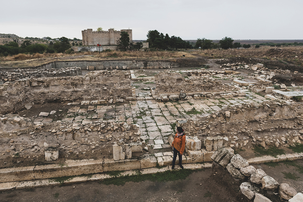 The archaeological ruins at Tigranakert, an ancient Armenian city that dates back to the first century B.C. It is located in Nagorno-Karabakh's Martakert Province.<br /><br />(September 24, 2016)