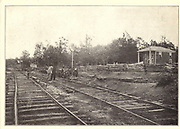 APPOMATTOX STATION (Appomattox, Virginia) LEE'S LAST ATTEMPT TO PROVISION HIS RETREATING ARMY from the book ' The Civil war through the camera ' hundreds of vivid photographs actually taken in Civil war times, sixteen reproductions in color of famous war paintings. The new text history by Henry W. Elson. A. complete illustrated history of the Civil war