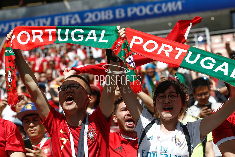 Fans of Portugal during the 2018 FIFA World Cup Russia, Group B football match between Portugal and Morocco on June 20, 2018 at Luzhniki stadium in Moscow, Russia - Photo Thiago Bernardes / FramePhoto / ProSportsImages / DPPI