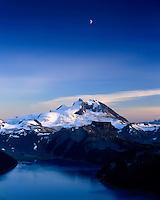 Moon over Garibaldi Peak,Garibaldi Provincial Park British Columbia