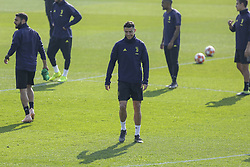 February 19, 2019 - Turin, Piedmont, Italy - Cristiano Ronaldo (Juventus FC) during the training on the eve of the first leg of eighth of final of UEFA Champions League match between Atletico Madrid and Juventus FC at Juventus Training Center on February 19, 2019 in Turin, Italy. (Credit Image: © Massimiliano Ferraro/NurPhoto via ZUMA Press)