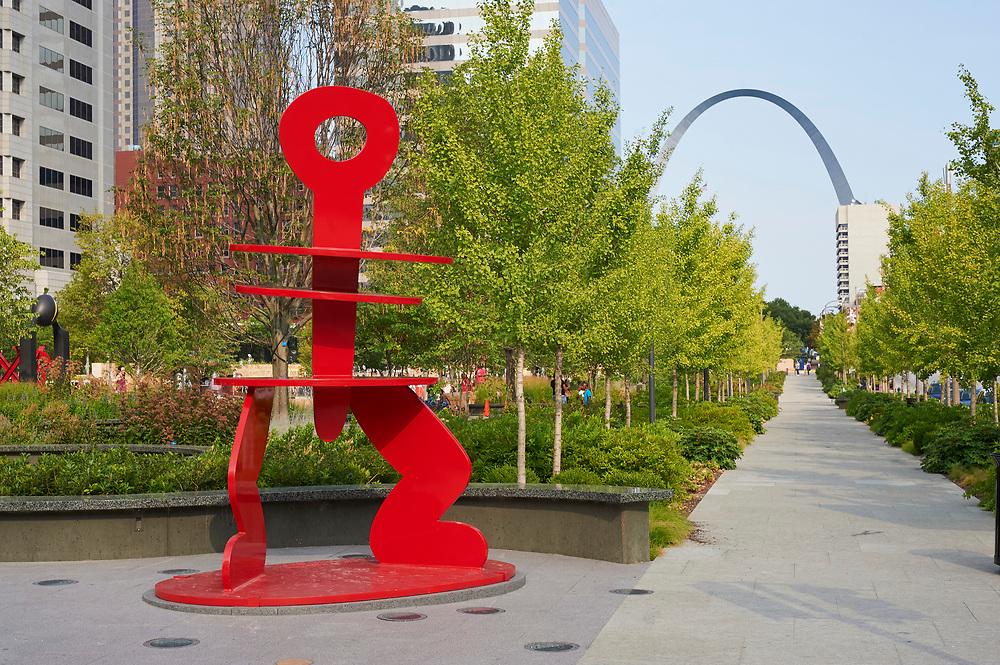 City Garden in St. Louis, Missouri on August 8, 2010.