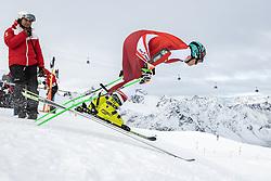 14.10.2021, Rettenbachferner, Sölden, AUT, OeSV Ski Alpin, RTL Training am Rettenbachferner, im Bild Maximilian Lahnsteiner (AUT) // Maximilian Lahnsteiner of Austria during a training session in preparation for the upcoming FIS Alpine Skiing World Cup season at the Rettenbachferner in Sölden, Austria on 2021/10/14. EXPA Pictures © 2021, PhotoCredit: EXPA/ Johann Groder