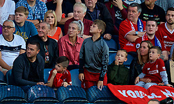 BLACKBURN, ENGLAND - Thursday, July 19, 2018: Mark Roberts and family during a preseason friendly match between Blackburn Rovers FC and Liverpool FC at Ewood Park. (Pic by David Rawcliffe/Propaganda)