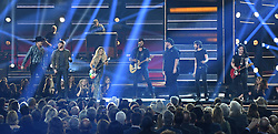 Performances and awards presentations during the 52nd Annual CMA Awards at the Bridgestone Arena hosted by Carrie Underwood and Brad Paisley. 14 Nov 2018 Pictured: Jon Pardi, Cole Swindell, Lindsay Ell, Luke Bryan, Luke Combs, Chris Janson and Ashley McBryde. Photo credit: MBS/MEGA TheMegaAgency.com +1 888 505 6342