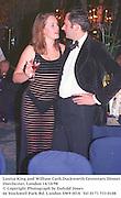 Louisa King and William Cash.Duckworth Centenary Dinner. Dorchester, London 14/10/98<br />© Copyright Photograph by Dafydd Jones<br />66 Stockwell Park Rd. London SW9 0DA<br />Tel 0171 733 0108