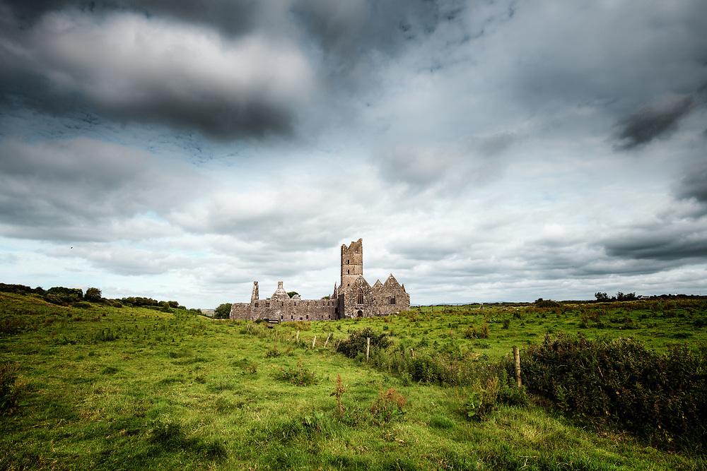 Ruin of Moyne Abbey castle, Ireland