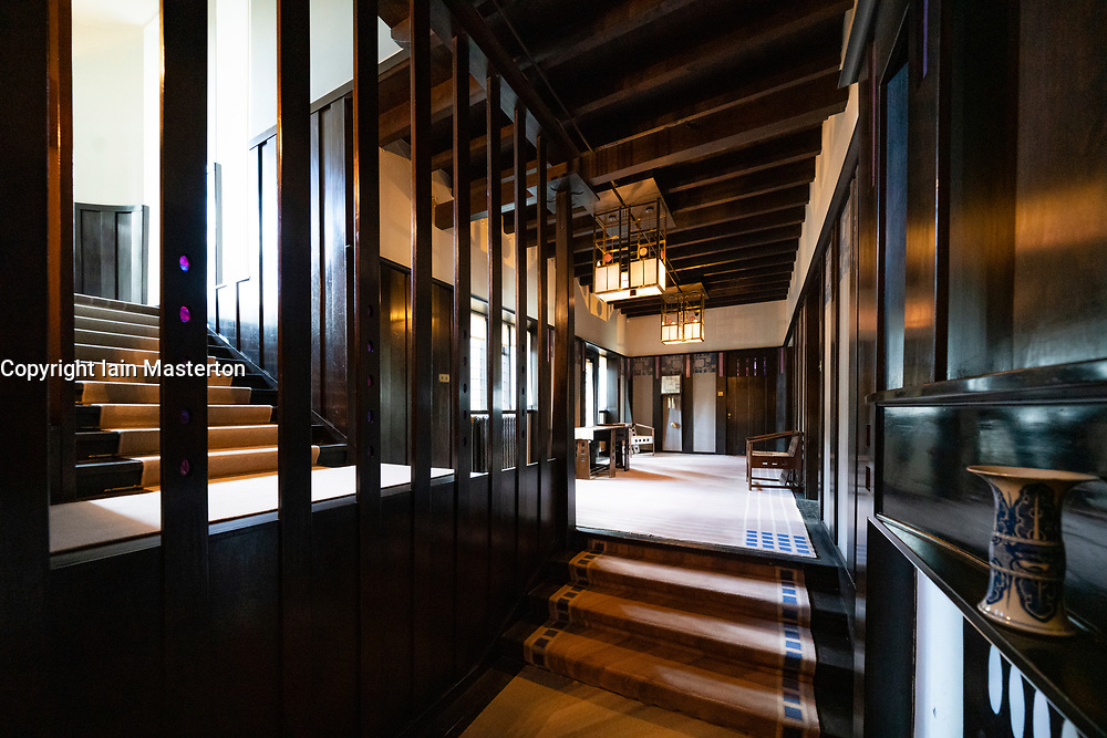 Interior of Hill House designed for Walter Blackie by Charles Rennie Mackintosh, Helensburgh, Scotland, UK Editorial Use Only